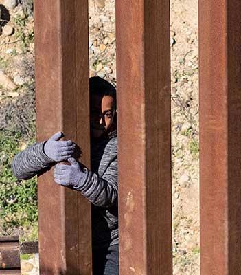 Child at Border Wall.